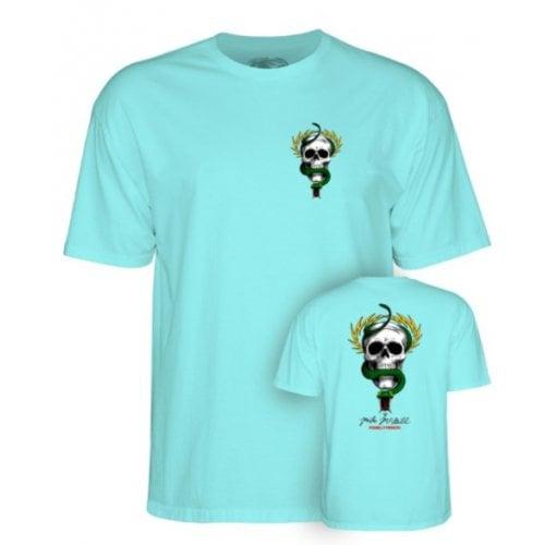 T-Shirt Powell Peralta: Skull & Sword Celadon Blue