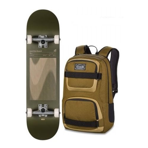 Skate Completo Globe + Backpack Dakine: G1 Lineform Boxed Olive 8.0x31.63