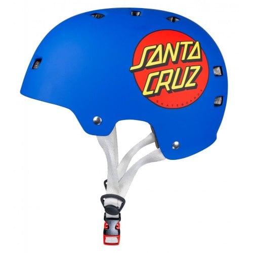 Bullet & Santa Cruz Helmet: Classic Dot Matt Blue