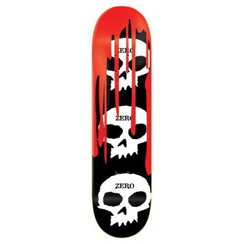 Tábua Zero: 3 Skulls BK/WH/RD 8.0x31.6