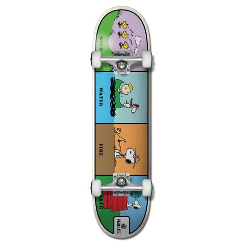 """Skate Completo Element: 8"""" PEANUTS WIND WATER FIRE EARTH 8.0x31.75"""