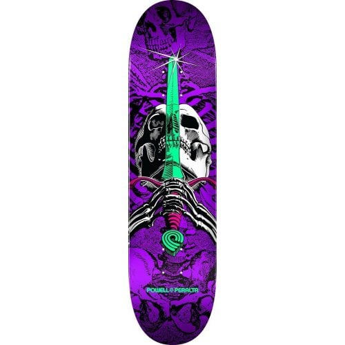 Tabua Powell Peralta: Skull & Sword One Off Birch Purple 7.5