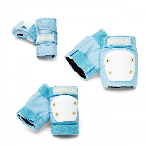 Impala Pads Pack: Protective Set Youth Sky Blue/ Yellow