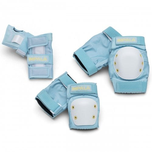 Impala Pads Pack: Adult Protective Pack - Sky Blue/Yellow
