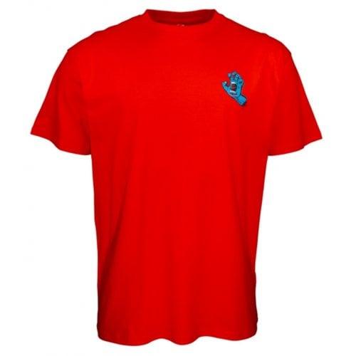 T-Shirt Santa Cruz: Screaming Hand Chest Red
