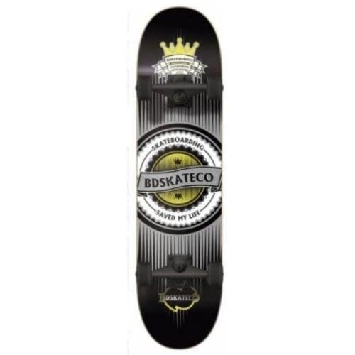 Skate Completo BDSkate: Crown Black 8.0
