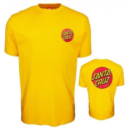 T-Shirt Santa Cruz: Classic Dot Chest -Mustard YL