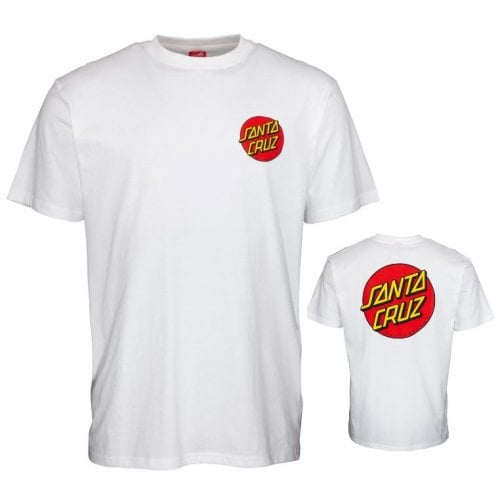 T-Shirt Santa Cruz: Classic Dot Chest WH