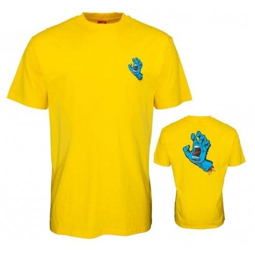 T-Shirt Santa Cruz: Screaming Hand Chest -Mustard YL