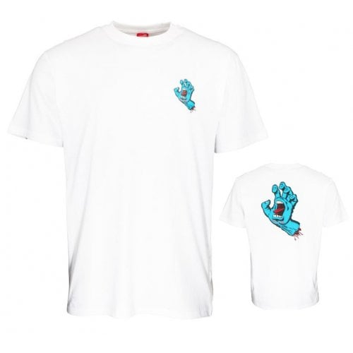 T-Shirt Santa Cruz: Screaming Hand Chest WH