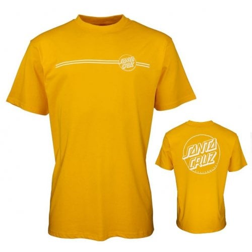 T-Shirt Santa Cruz: Opus Dot Stripe -Mustard YL