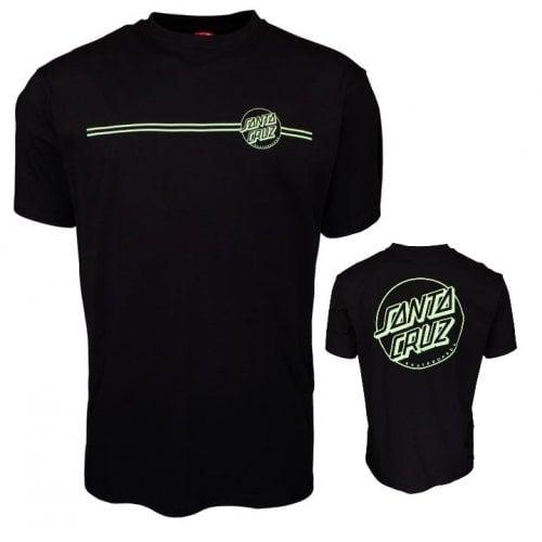 T-Shirt Santa Cruz: Opus Dot Stripe Black/Mint BK