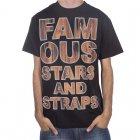 Famous Stars and Straps T-Shirt Famous Stars&Straps. Cor: preto/marrom.