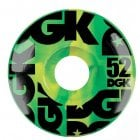 Rodas DGK: Swirl Formula Green 52mm (101A)