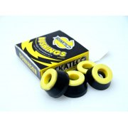 Borrachas BDSkateCO: DCore Black/Yellow 90A