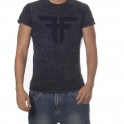 T-Shirt Fallen: Trademark MC Acid Wash BK