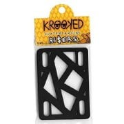 Bases Krooked Skateboardings: Riser Pads Black 1/4""